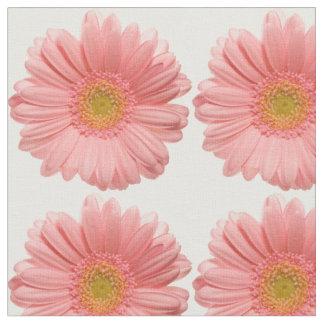 Tecido peachy floral elegante da margarida
