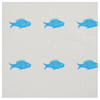 Tecido Peixes azuis