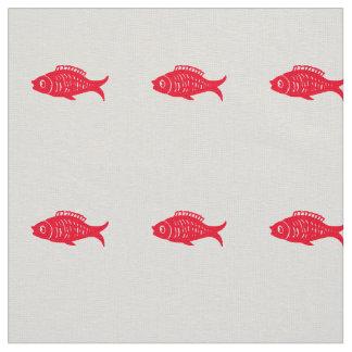 Tecido Peixes vermelhos