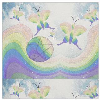 Tecido Pentacle da borboleta de prisma do arco-íris