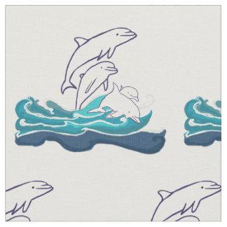 Tecido penteado costume do algodão dos golfinhos