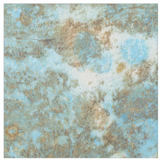 Tecido penteado mármore do algodão do azul/ouro