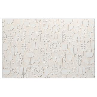 Tecido pêssego de papel do branco das flores de corte