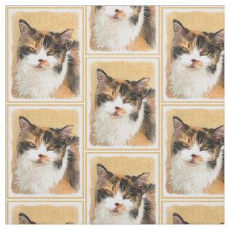 Tecido Pintura do gato de chita - arte original bonito do
