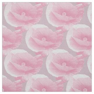 Tecido poppies. cor-de-rosa