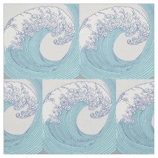 Tecido Praia do azul do impressão do oceano da arte da