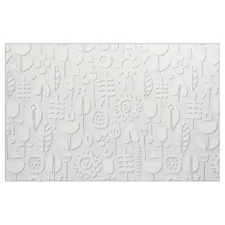 Tecido prata de papel do branco das flores de corte