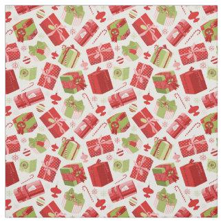 Tecido Presentes de época natalícia coloridos