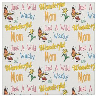 Tecido Presentes maravilhosos malucos selvagens da mamã