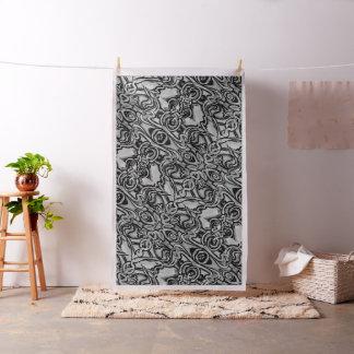 Tecido preto e branco abstrato