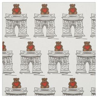 Tecido quadrado dos namorados do urso de ursinho