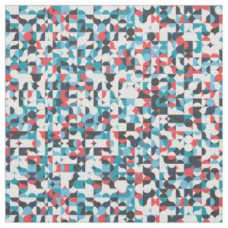 Tecido quadrado geométrico retro do teste padrão