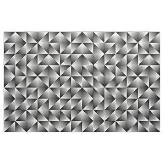 Tecido Quadrados geométricos chiques retros pretos do
