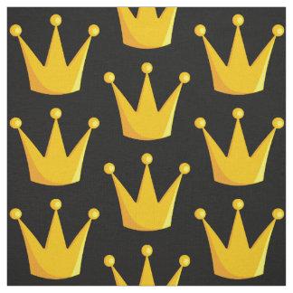 Tecido Rei Coroa da grade