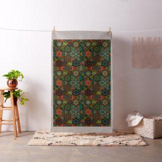 Tecido Retalhos do vintage com elementos florais da