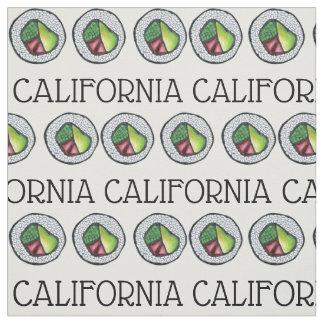 Tecido Rolo de sushi japonês CA da comida de Califórnia