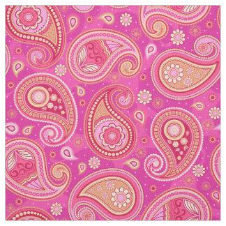 Tecido Rosa feminino bonito do teste padrão de Paisley