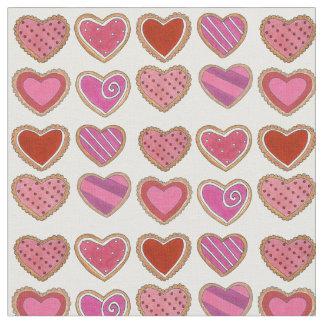 Tecido rosa vermelha do biscoito de açúcar do