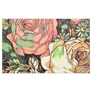 Tecido Rosas maravilhosos