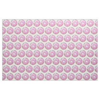 Tecido Rosquinha cor-de-rosa da morango