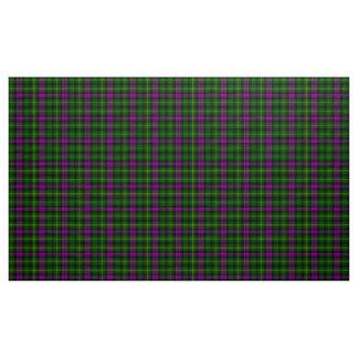 Tecido roxo e verde do Tartan de Abercrombie da