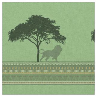 Tecido Savana do leão