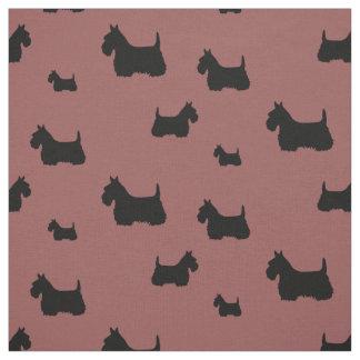 Tecido Scottish silhueta preta/wheaten de Terrier