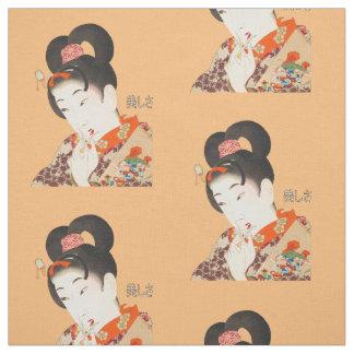Tecido Senhora bonita Japonês Imprimir 4 Toyohara