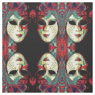 Tecido Senhora Venetian Máscara