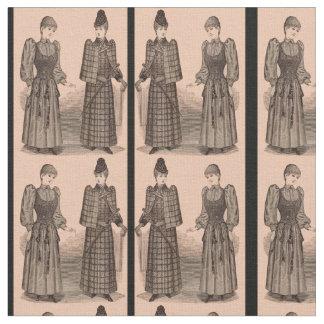 Tecido Senhoras 1895 do impressão do Delineator casaco e