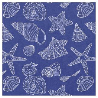 Tecido Shell azul brilhante modela | adiciona seus 2