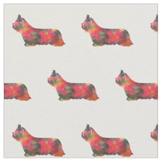 Tecido Silhueta de Skye Terrier telhada - multi