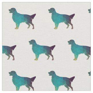 Tecido Silhueta Liso-Revestida do cão do Retriever