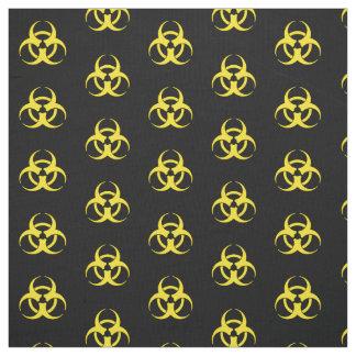Tecido Símbolo amarelo do Biohazard