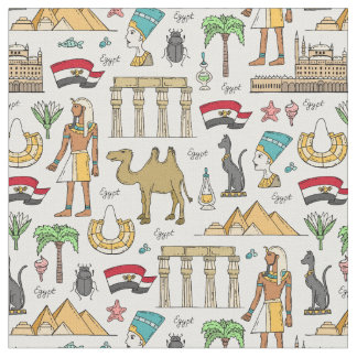 Tecido Símbolos da cor do teste padrão de Egipto