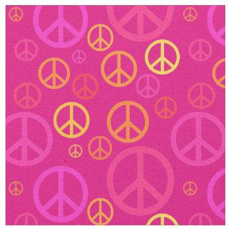 Tecido Sinais de paz dispersados SPST cor-de-rosa