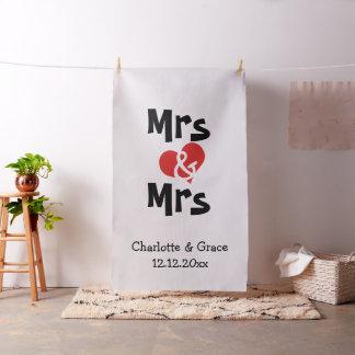 Tecido Sra. e contexto da Sra. Coração Lésbica Casamento