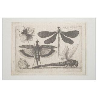 Tecido Tapeçaria da entomologia da abelha de Dragongly do