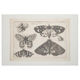 Tecido Tapeçaria do inseto da abelha da borboleta da