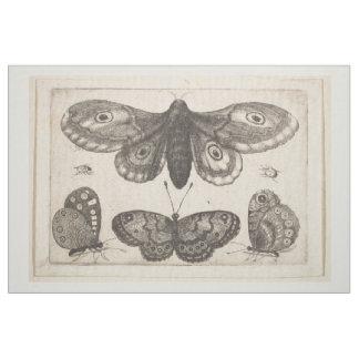 Tecido Tapeçaria dos Lepidoptera da borboleta da traça do