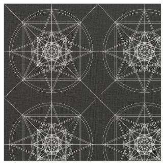 Tecido Terceira geometria sagrado dimensional (dobrada)