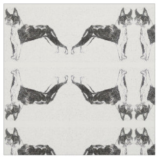 Tecido Terrier espelhados de Boston
