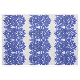 Tecido Teste padrão a céu aberto no azul-chinoiserie do