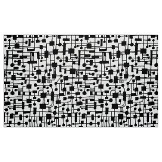 Tecido Teste padrão abstrato 020517 - preto no branco