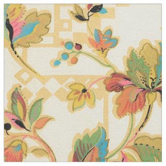 Tecido Teste padrão alaranjado do papel de parede floral