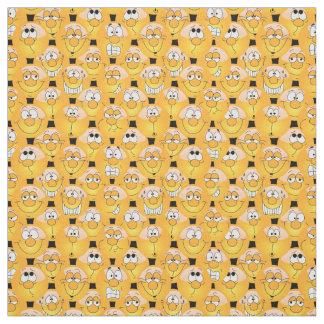 Tecido Teste padrão amarelo de Emoji