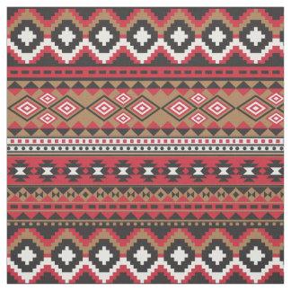 Tecido Teste padrão asteca do navajo do sudoeste colorido