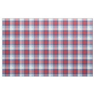Tecido Teste padrão azul branco vermelho tradicional do