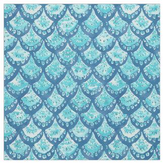 Tecido Teste padrão azul das escalas de peixes da FAÍSCA