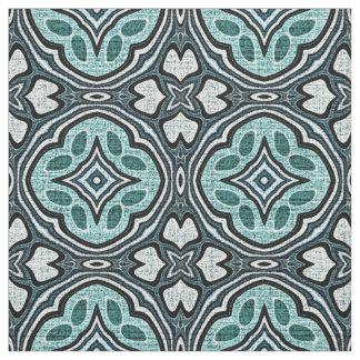 Tecido Teste padrão azul do estilo do Batik de Bali da